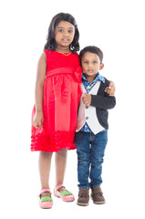 Portrait of indian girl and boy