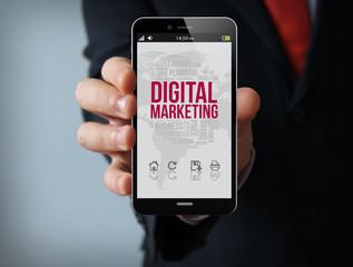 digital marketing businessman smartphone