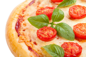 Pizza with tomatoes tasty and flavorful