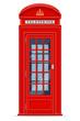 Obrazy na płótnie, fototapety, zdjęcia, fotoobrazy drukowane : london red phone booth vector illustration