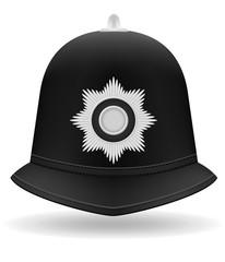 london police helmet vector illustration