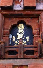 Sculpture of Buddha in the temple of Bhutan