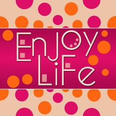 Enjoy Life Peach Pink Circles