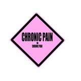 Chronic pain black stamp text on pink background poster