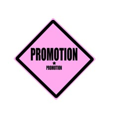 Promotion black stamp text on pink background