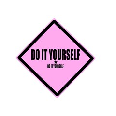 Do it yourself black stamp text on pink background