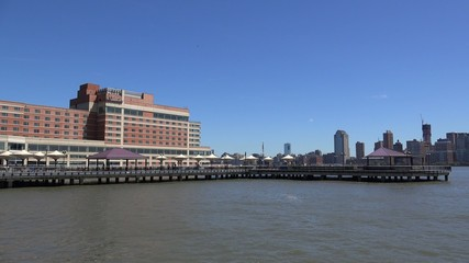 Hudson River Waterfront Walkway at the Jersey City.