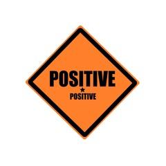 Positive black stamp text on orange background
