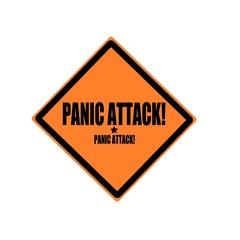 Panic attack black stamp text on orange background