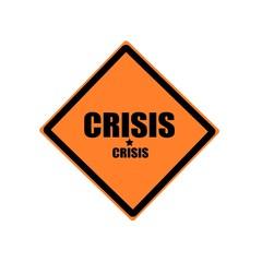 Crisis black stamp text on orange background