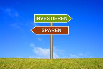 Wegweiser: Investieren oder Sparen