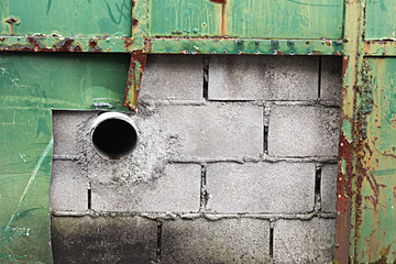 drainage sewer canal on wall