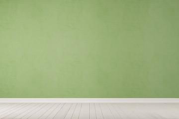 Leere grüne Wand mit Boden