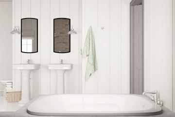 Bad mit Wanne und Waschbecken