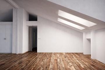 Wohnung im Dachgeschoss mit Parkett