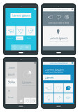 UI infographics templates