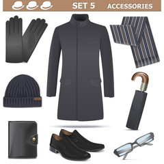 Vector Male Accessories Set 5