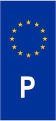 Portugal vehicle registration plate (P)