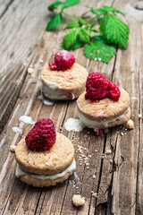 fresh raspberry cookies