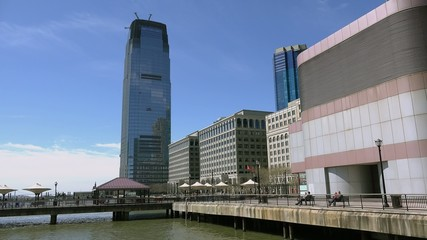 Hudson River Waterfront Walkway in the Jersey City