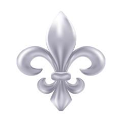 Silver fleur-de-lis decorative design