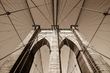 Fototapeta Brooklyn bridge, New York City