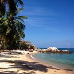 Sunny beach in Koh Tao