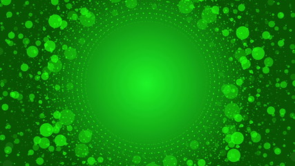 green abstract loop motion background, particle element