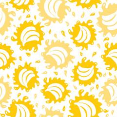 Organic food background bananas seamless pattern