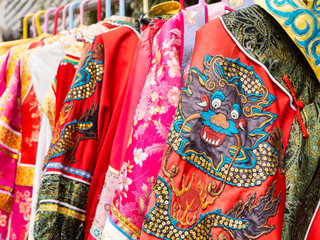 Chinese garments on display