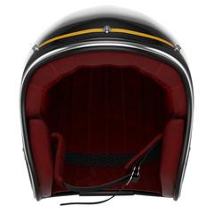 Motorcycle helmet black carbon front