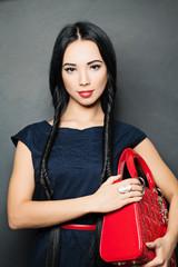 Stilysh Fashion Brunette with with long black Braids