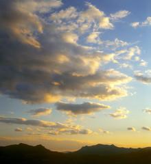 Sunset sky.
