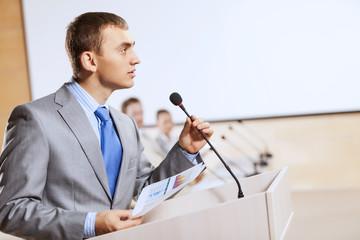 Speaker at stage