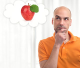 man dreams about apple