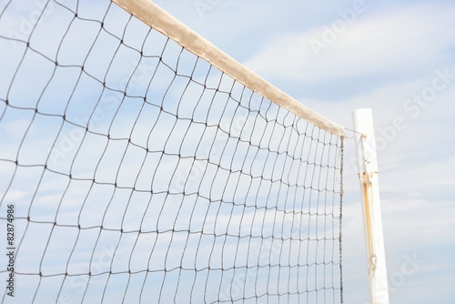 Plakat volleyball net against the sky