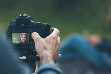 Photo shooting outdoors