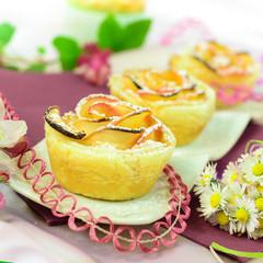 Apfelmuffins in Rosenform