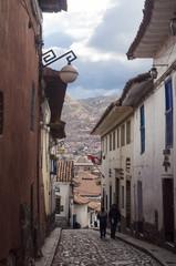 Calle típica de Cuzco, Perú