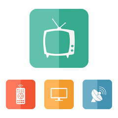 Vector tv related icons