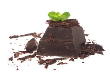 dark chocolate and fresh mint