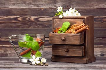 Herbal tea with cinnamon
