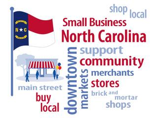 North Carolina Flag, shop small business, stores, advertise PR