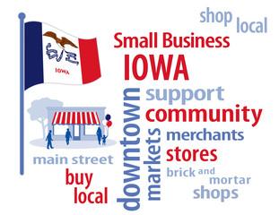 Iowa USA Flag, shop small business, stores, advertise, PR