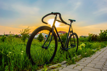 Bicycle at sunset