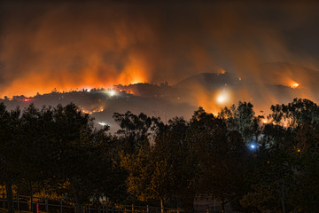 Fire in San Marcos, California 2014-05-14