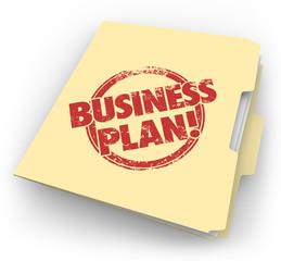 Business Plan Manila Folder Documents Strategy Vision Startup Co