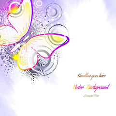 butterfly, abstract background