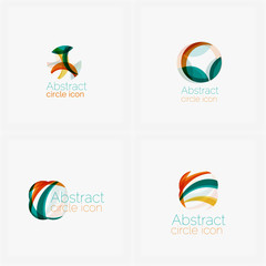 Clean elegant circle shaped abstract geometric logo. Universal