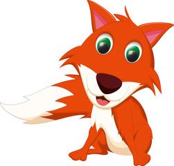 cute fox cartoon